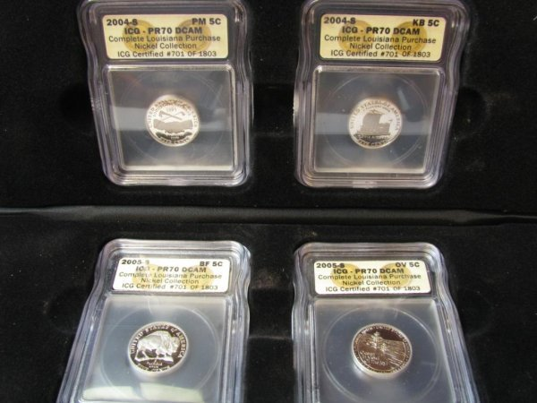 408: 2004 Louisiana Purchase Nickel Collection ICG Cert