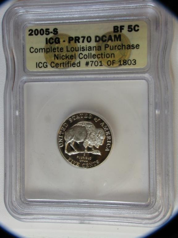408: 2004 Louisiana Purchase Nickel Collection ICG Cert - 2