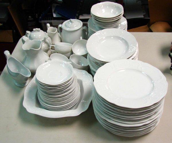 5: Rosenthal White Dinnerware Classic Rose 84 pc.