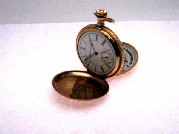 20: 14k goldfilled Hampton pocket watch