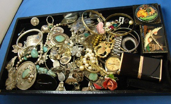 9: Lot of Costume Jewelry incl. Sterling Silver