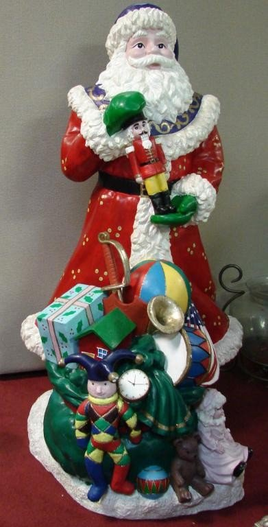 """150: 4' 9"""" Santa with Bag of Toys from Neiman Marcus"""