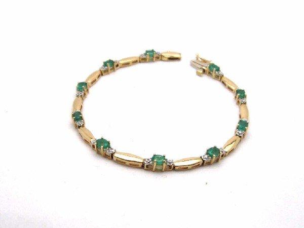 5: Lady's 14kyg emerald & diamond bracelet