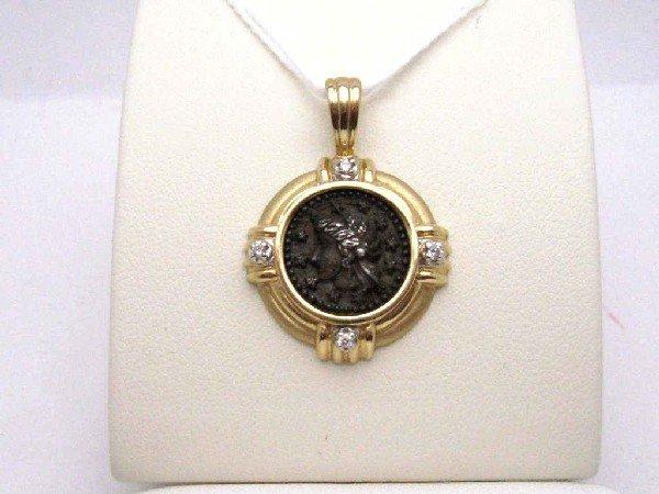 19: 14kyg replica ancient coin necklace