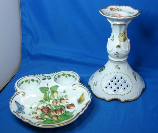7A: Susan Weatherley Candle Holder & Divided Dish