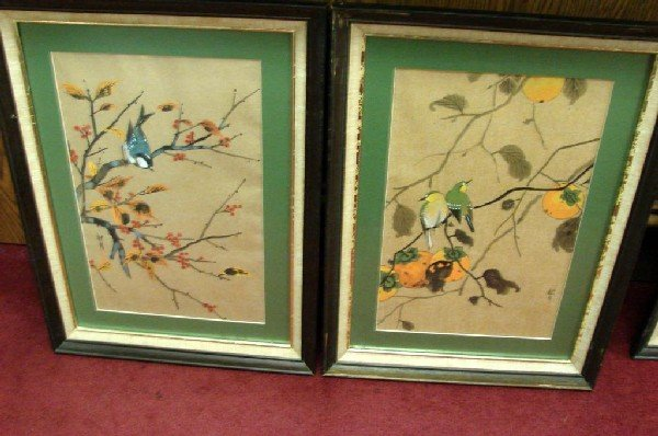 8: Lot of 5 framed Pictures of Birds