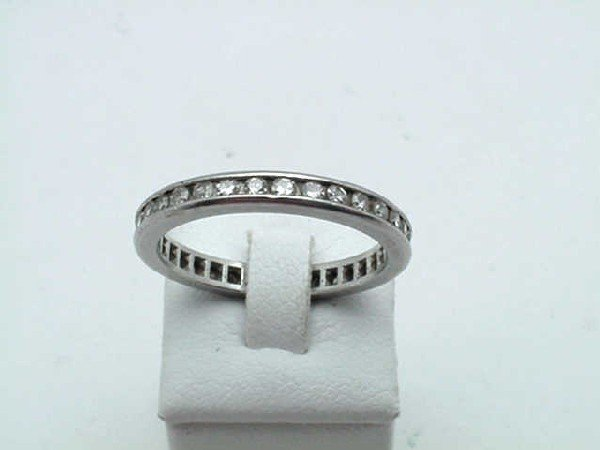 19: 14kwg diamond eternity band .75ctw