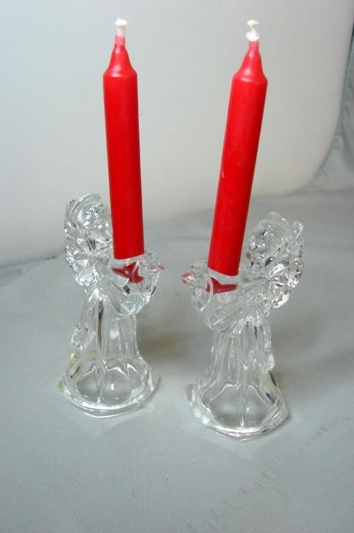 3: Waterford  Marquise Angel Candleholders