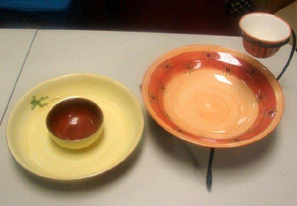 10: 2 Large Chip & Dip Bowls, Slow Cooker, vases ++