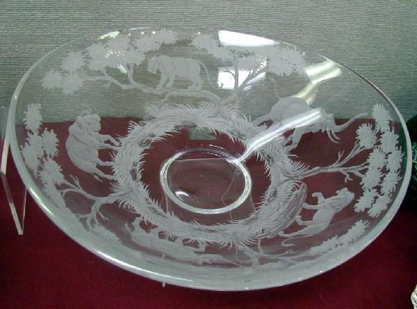 194: Queen Lace Crystal Safari theme Centerpiece Bowl