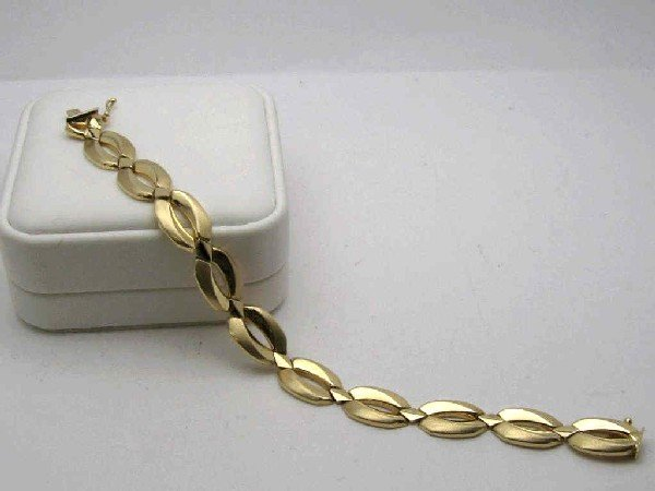 19: 14kyg fashion link bracelet 10 grams