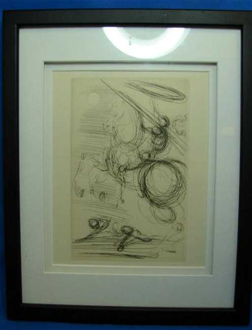 54 Original Etching By Salvador Dali Of Don Quixote