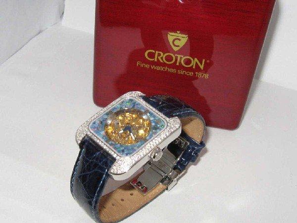 134: Croton diamond and opal watch
