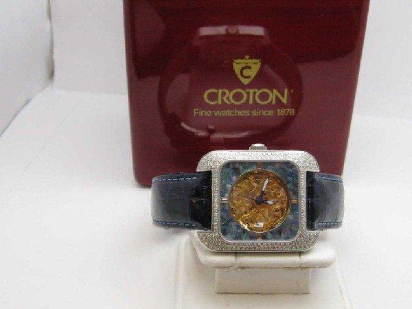 134: Croton diamond and opal watch - 2