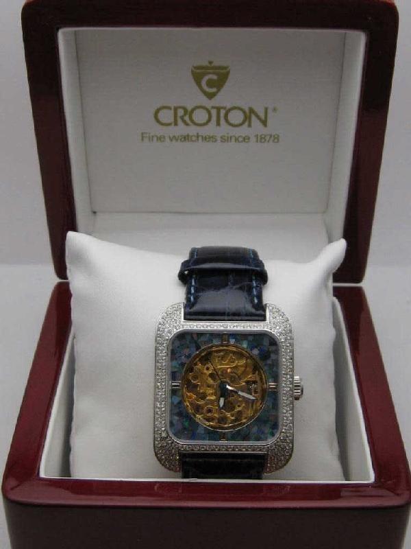 134: Croton diamond and opal watch - 3
