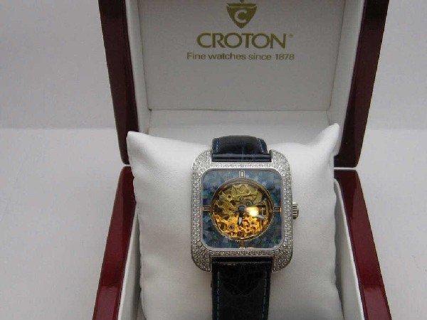 134: Croton diamond and opal watch - 5