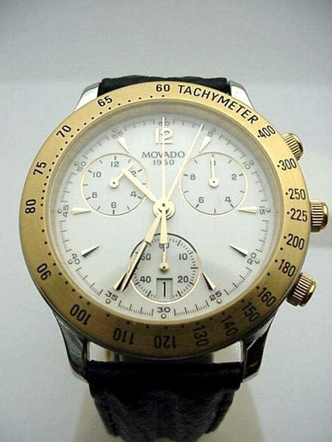 15A: Stainless Movado Chronograph watch
