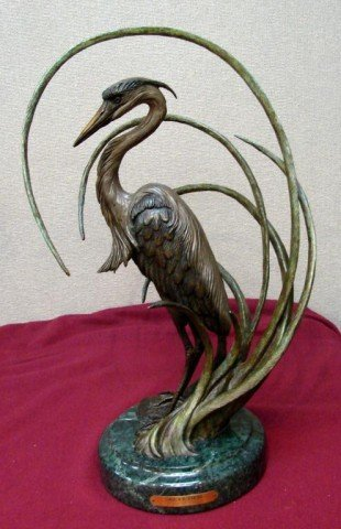 "131: Bronze Sculpture Dr. Robert Taylor ""Secluded"""