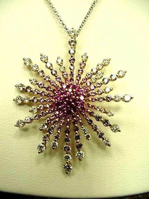 41A: 18kyg diamond&sapphire necklace