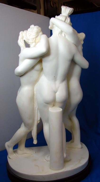"199: A. Santini Sculpture - 3 Nudes ""Three Graces"" - 2"