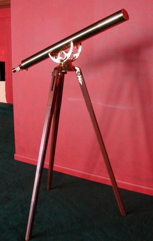 241: Bausch & Lomb Brass Telescope Mounted on Tripod