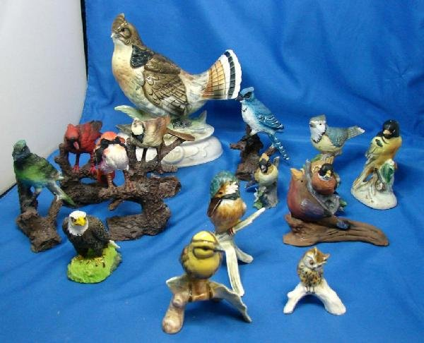 1: Collection of 15 Bird Figurines