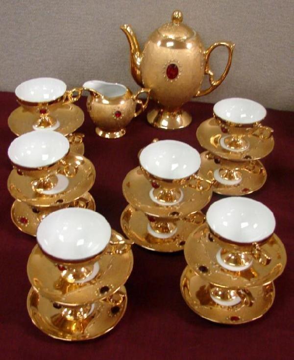 8: Rieber Mittertaich Bavarian Gold Coffee Set 27 pcs