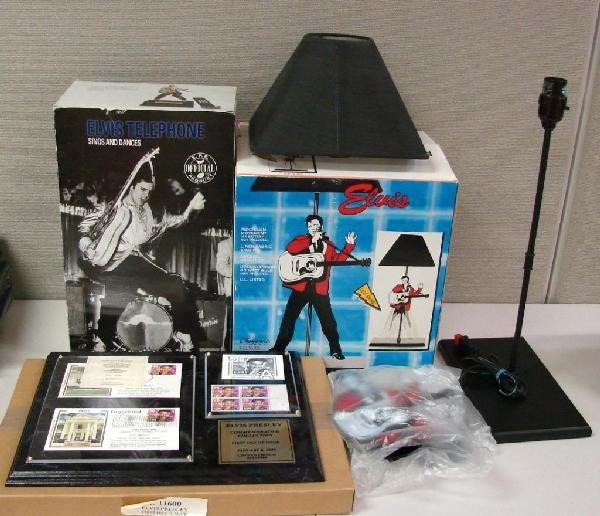 9: Elvis Presley Dancing Lamp, Telephone & Stamps