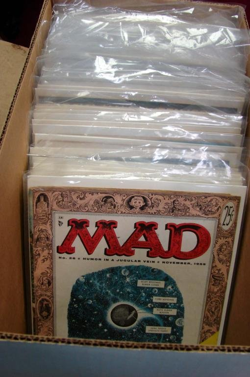 14: 55 Mad Magazines 1950's & 60's; issues 26-98