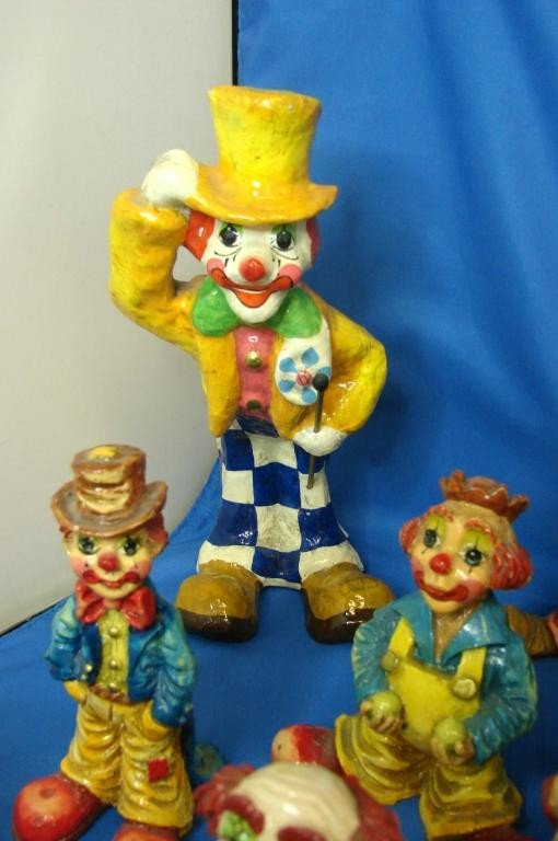 23: 12 Collectible Clowns - hand painted in Mexico - 2