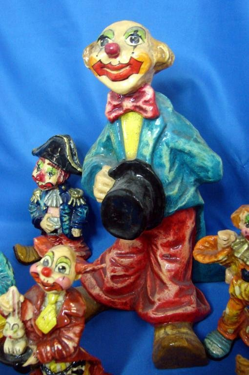 23: 12 Collectible Clowns - hand painted in Mexico - 3