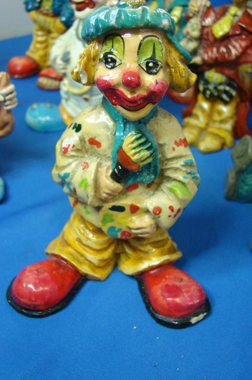 23: 12 Collectible Clowns - hand painted in Mexico - 4