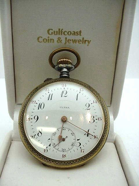 4: Ultra goldfilled open faced pocket watch