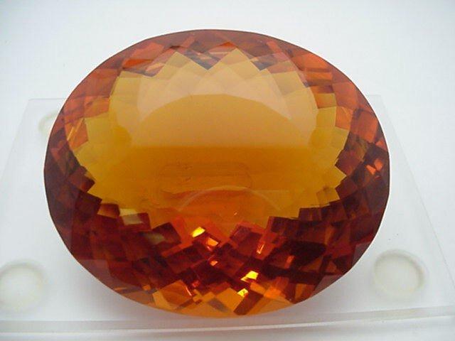 21: Rare 737ct Golden Orange Citrine oval