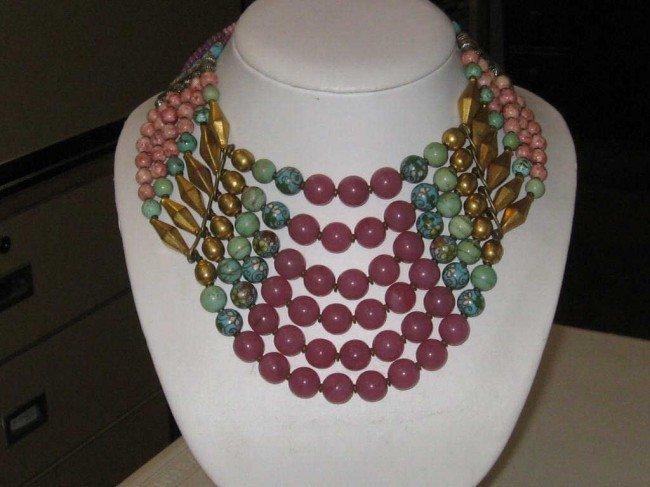 180: Designer Masha Archer bead necklace