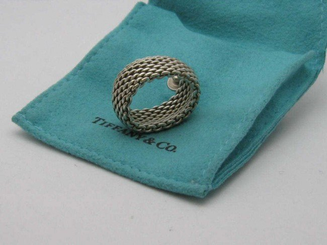 7: Sterling flexible Tiffany & Co. Sz6