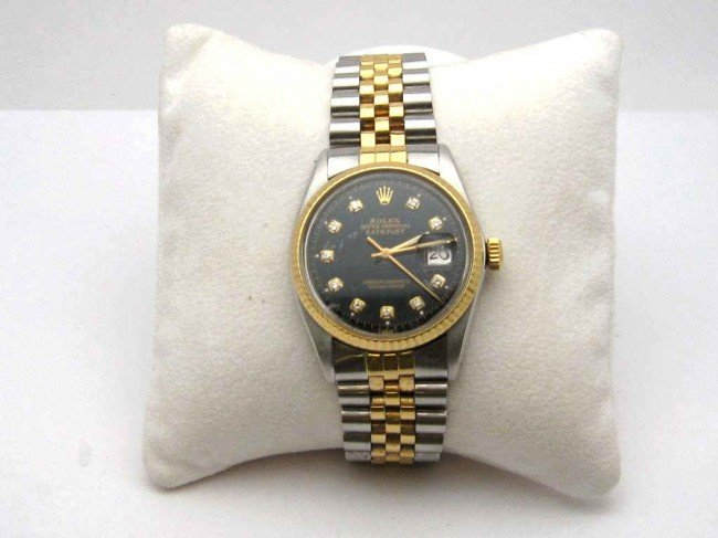9: Man's stainless & gold Rolex Datejust