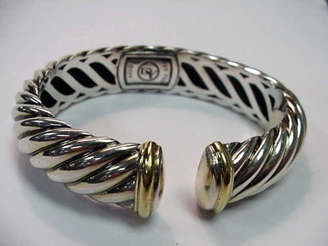 4: Sterling & 18kyg David Yurman bracelet