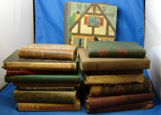 3: Lot of Books c1800's: Peter Rabbit, Little Women