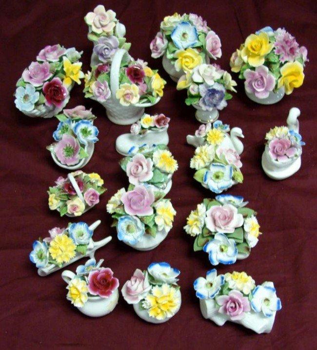 7: 19 Staffordshire Fine Bone China Flower Bouquets