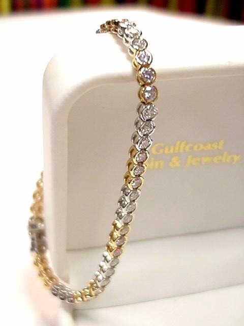 46A: 18k pink and diamond bracelet 4.81cts