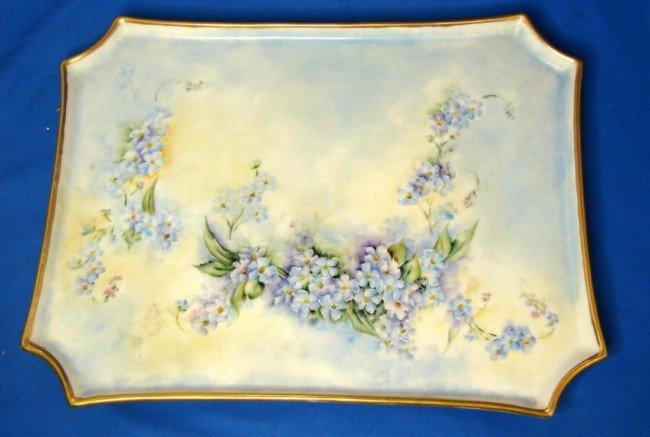 4: Vintage Limoges Hand Painted Dresser Tray