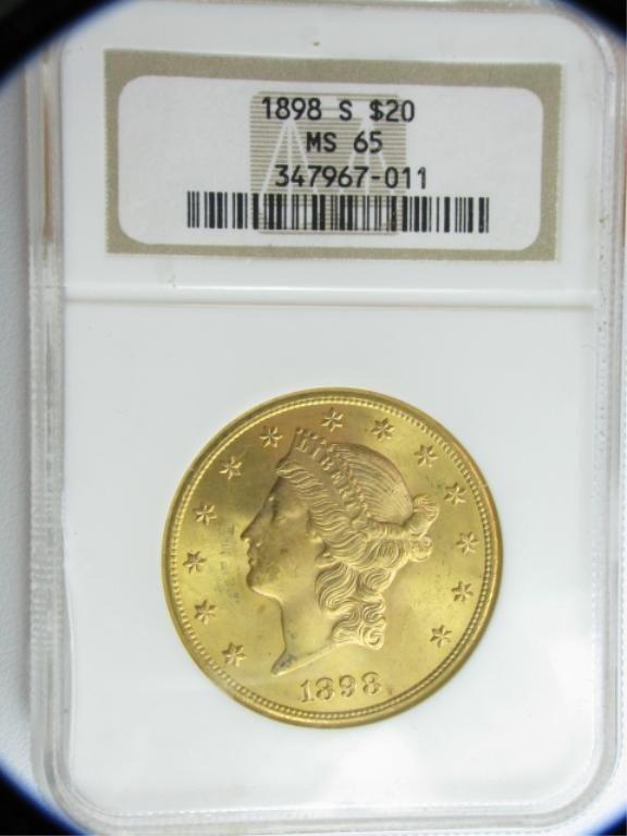 6C: 1898-S $20 Liberty NGC MS65