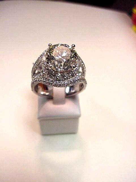 59: 4.04ct RBC diamond ring J/SI2 EGL