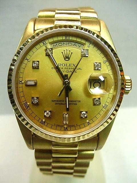 78: Man's 18kyg Rolex resident with diamonds