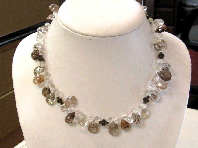 8A: Quartz,moonstone & crystal necklace