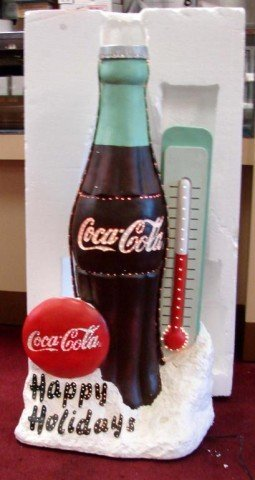 10A: Coca Cola Fiber Optic Outdoor Coke Bottle Xmas Dis