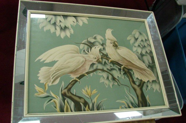 13: Retro Mirror Framed Turner Print  of Cockatoos