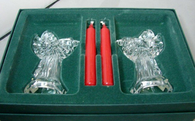 2: Waterford  Marquise Angel Candleholders