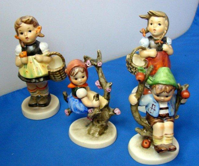 3: 4 Hummels: Apple Tree Girl & Boy; Sister, Lil Shop